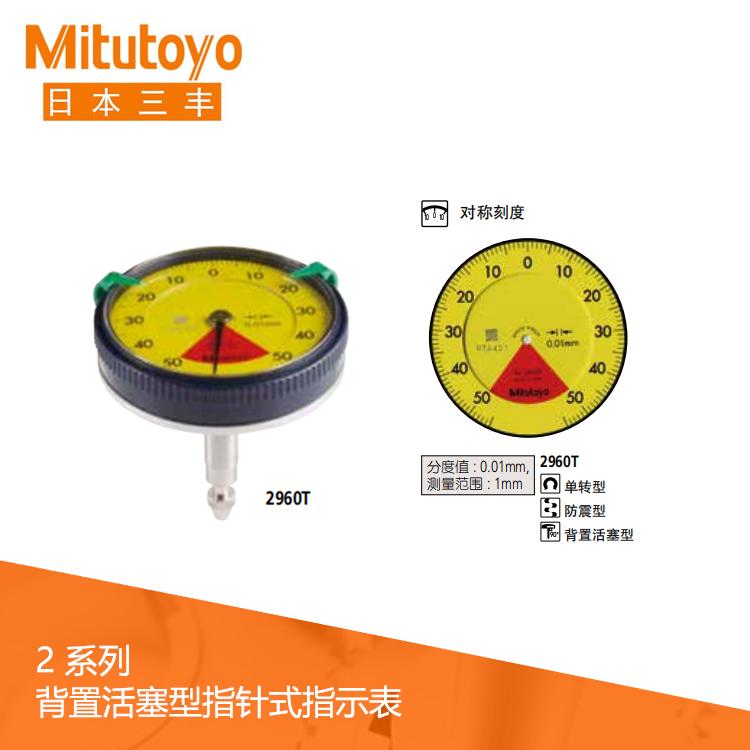 2系列背置活塞型指针式指示表2960T